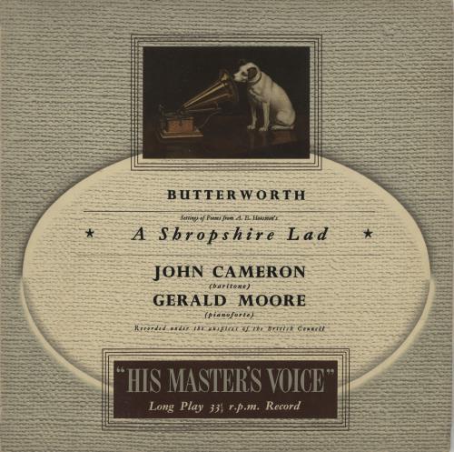 "George Butterworth A Shropshire Lad 10"" vinyl single (10"" record) UK GNQ10AS675139"