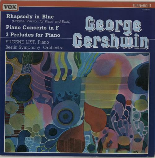 George Gershwin Rhapsody In Blue - Piano Concerto in F vinyl LP album (LP record) Dutch G/GLPRH592430