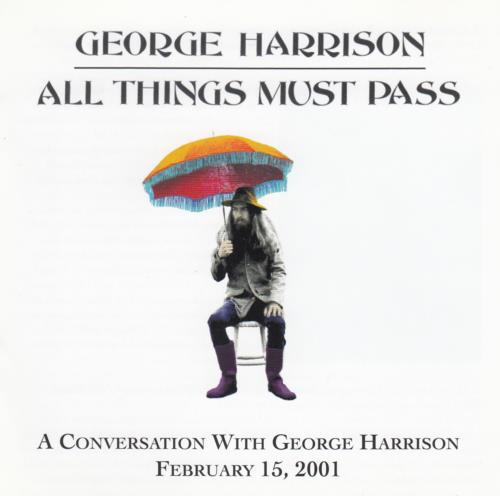 George Harrison All Things Must Pass A Conversation CD Album CDLP US GHACDAL182777