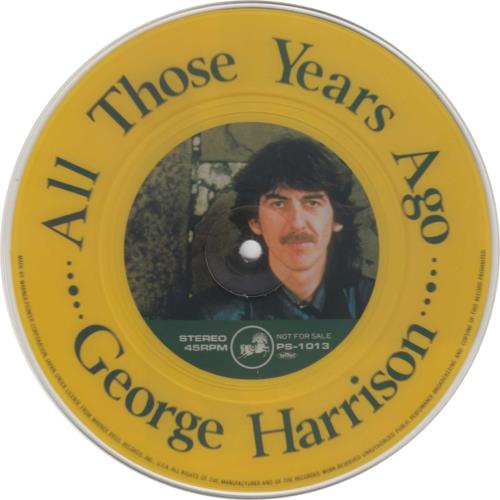 """George Harrison All Those Years Ago 7"""" vinyl picture disc 7 inch picture disc single Japanese GHA7PAL214361"""