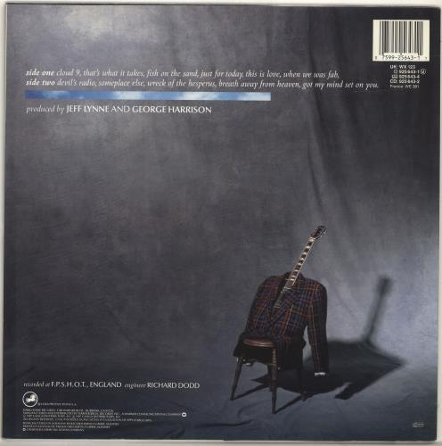 George Harrison Cloud Nine - Stickered vinyl LP album (LP record) UK GHALPCL689810