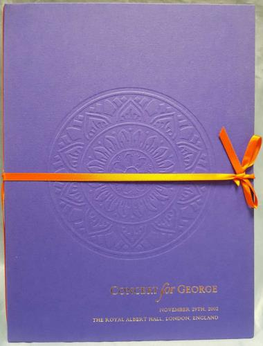 George Harrison Concert For George + Schedule, Stub & Insert tour programme UK GHATRCO768221