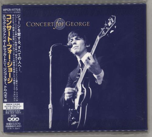George Harrison Concert For George 2 CD album set (Double CD) Japanese GHA2CCO292333