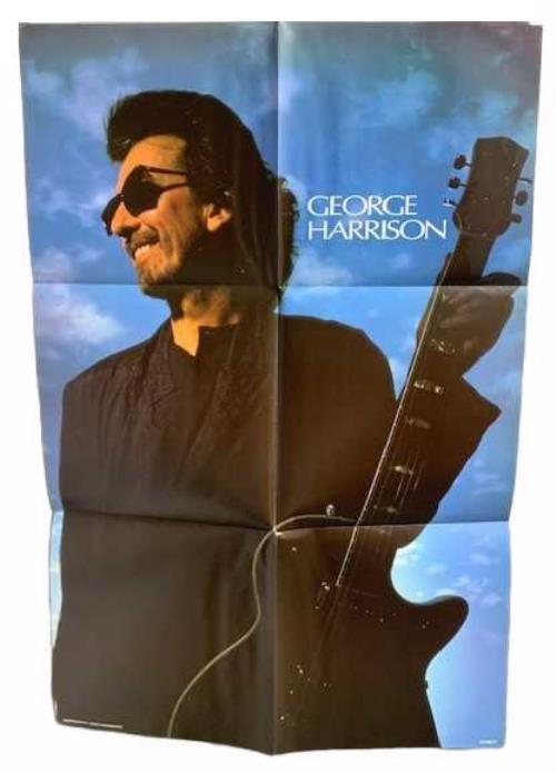 "George Harrison Got My Mind Set On You + Poster 12"" vinyl single (12 inch record / Maxi-single) UK GHA12GO770591"