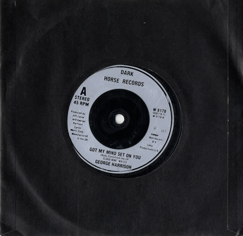 "George Harrison Got My Mind Set On You - Silver Inj 7"" vinyl single (7 inch record) UK GHA07GO562455"
