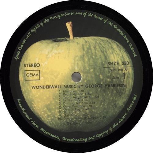 George Harrison Wonderwall Music - Hor Zu issue vinyl LP album (LP record) German GHALPWO310760