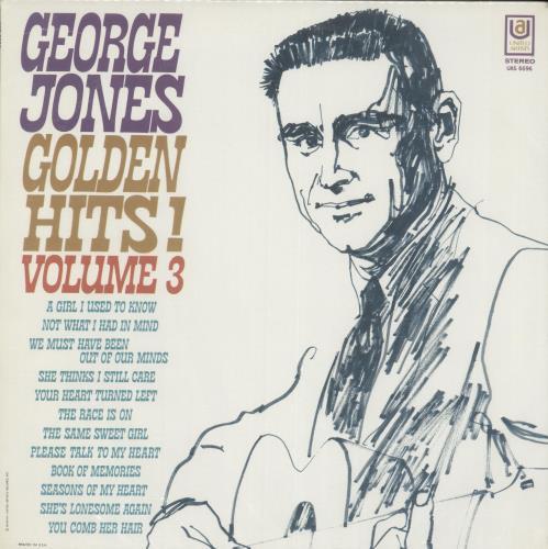 George Jones Golden Hits! Volume 3 vinyl LP album (LP record) US GEJLPGO699725