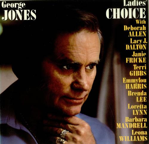 George Jones Ladies' Choice vinyl LP album (LP record) UK GEJLPLA449641
