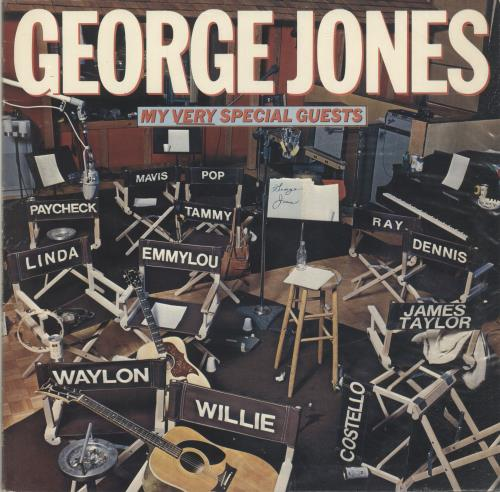 George Jones My Very Special Guests vinyl LP album (LP record) UK GEJLPMY699861