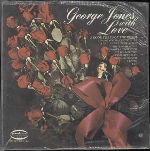 George Jones With Love vinyl LP album (LP record) US GEJLPWI699715