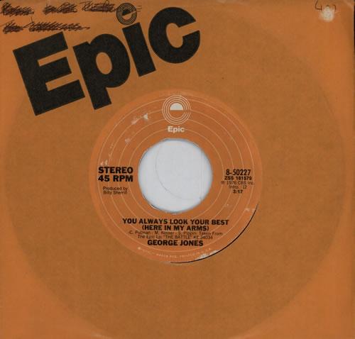 """George Jones You Always look Your Best (Here In My Arms) 7"""" vinyl single (7 inch record) US GEJ07YO572840"""