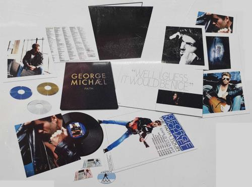 George Michael Faith - Deluxe Edition 3-disc CD/DVD Set UK GEO3DFA699789