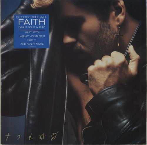 George Michael Faith - Stickered sleeve vinyl LP album (LP record) UK GEOLPFA671383