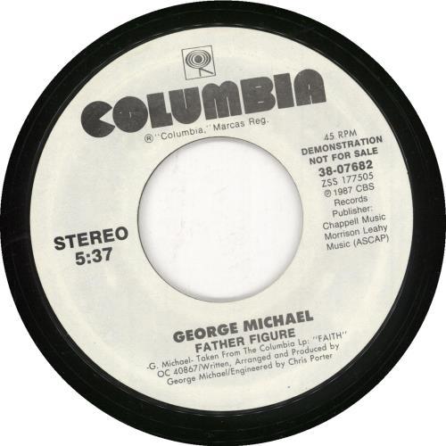 "George Michael Father Figure 7"" vinyl single (7 inch record) US GEO07FA731667"