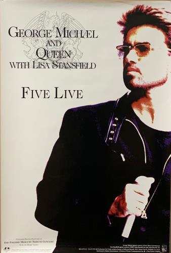 George Michael Five Live poster UK GEOPOFI723429