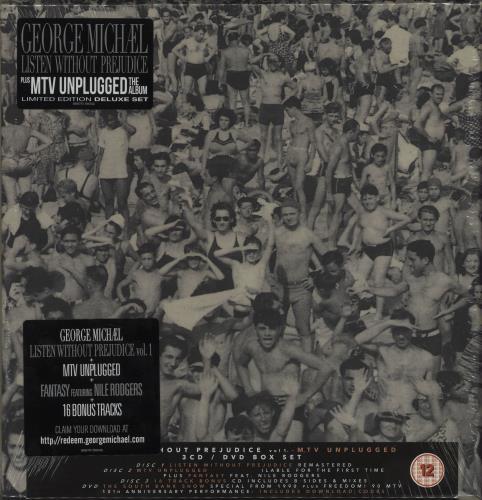 George Michael Listen Without Prejudice + MTV Unplugged - Sealed CD Album Box Set UK GEODXLI686857