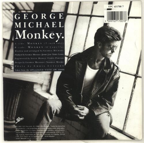 "George Michael Monkey 7"" vinyl single (7 inch record) Spanish GEO07MO144254"