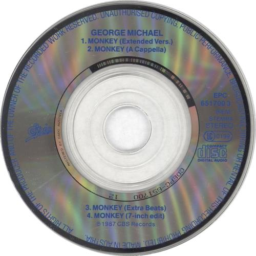 "George Michael Monkey 3"" CD single (CD3) Austrian GEOC3MO726441"