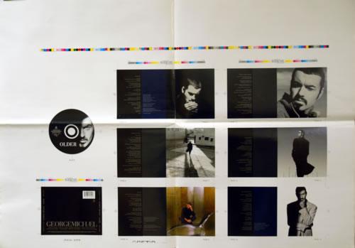 George Michael Older - Artwork for Compact Disc artwork UK GEOAROL109928
