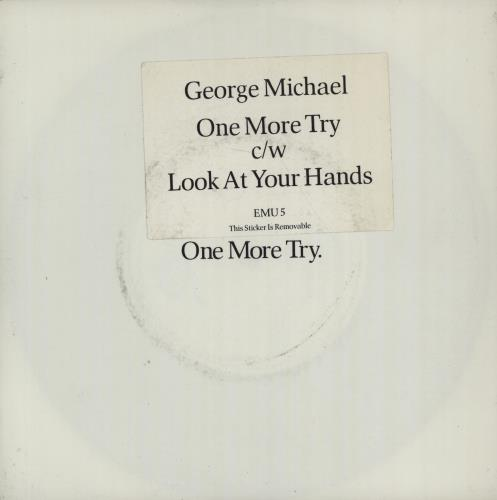 """George Michael One More Try - Hype Stickered 7"""" vinyl single (7 inch record) UK GEO07ON671470"""
