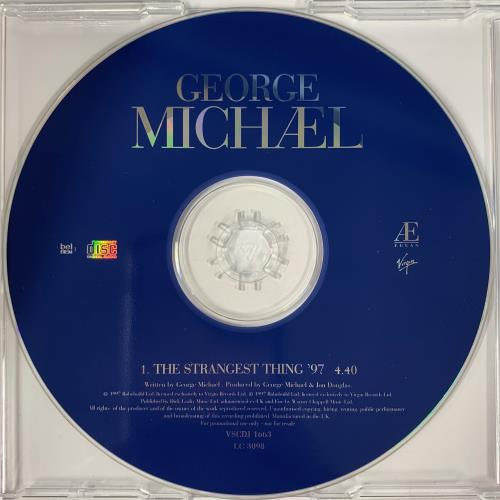 "George Michael The Strangest Thing '97 CD single (CD5 / 5"") UK GEOC5TH93766"