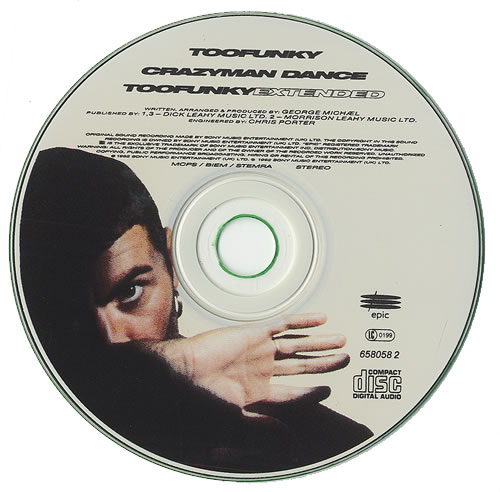 "George Michael Too Funky CD single (CD5 / 5"") Austrian GEOC5TO36010"