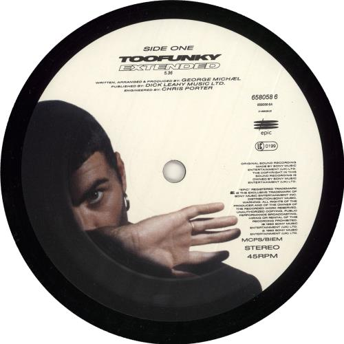 "George Michael Too Funky 12"" vinyl single (12 inch record / Maxi-single) UK GEO12TO726595"