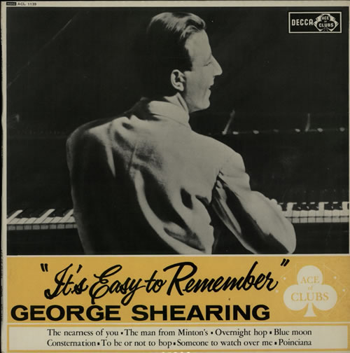 George Shearing It's Easy To Remember vinyl LP album (LP record) UK GSGLPIT625720
