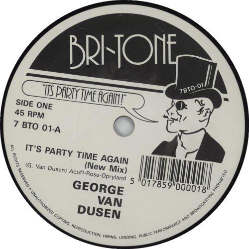 "George Van Dusen It's Party Time Again 7"" vinyl single (7 inch record) UK IZ207IT668784"