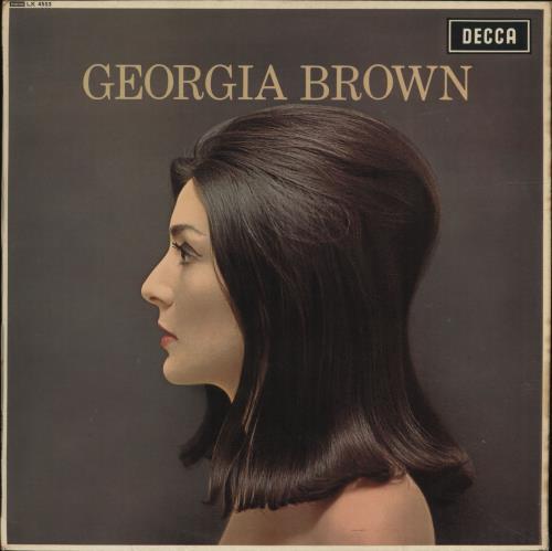 Georgia Brown Georgia Brown vinyl LP album (LP record) UK 3GBLPGE699859