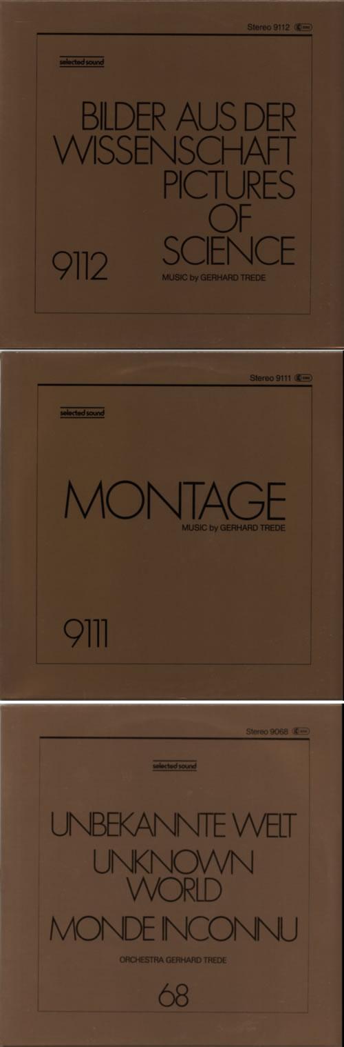 Gerhard Trede Electronic Fields/ Unknown World/ Montage/ Pictures Of... 4-LP vinyl album set (4 records) German G1U4LEL612987