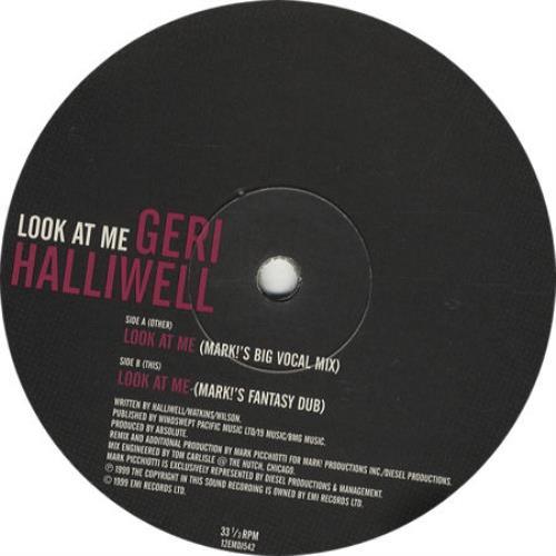 "Geri Halliwell Look At Me 12"" vinyl single (12 inch record / Maxi-single) UK G-R12LO135912"