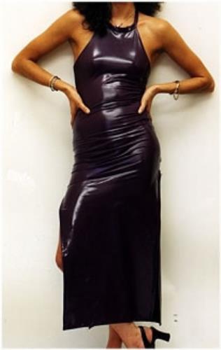 Geri Halliwell Purple PVC Halterneck Dress memorabilia UK G-RMMPU167613