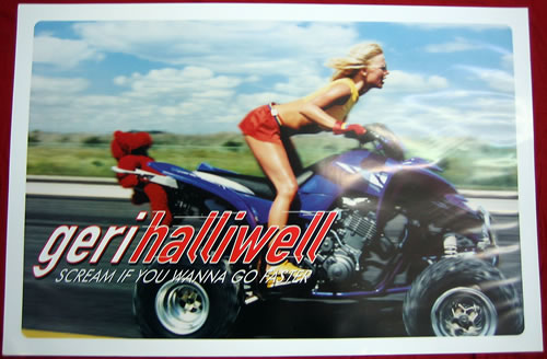 Geri Halliwell Scream If You Wanna Go Faster - Pair Of Posters poster UK G-RPOSC368648