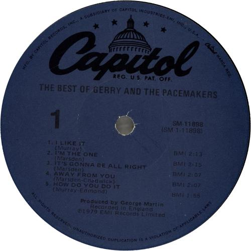Gerry And The Pacemakers The Best Of Gerry And The Pacemakers vinyl LP album (LP record) US GPMLPTH699404