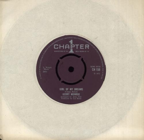 "Gerry Monroe Girl Of My Dreams 7"" vinyl single (7 inch record) UK GQV07GI741172"