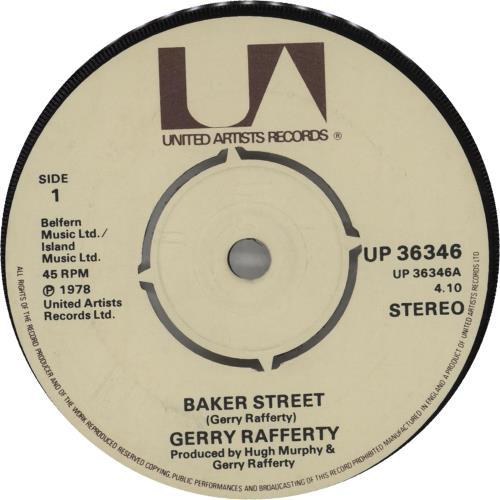 "Gerry Rafferty Baker Street - 4-prong 7"" vinyl single (7 inch record) UK GER07BA662525"
