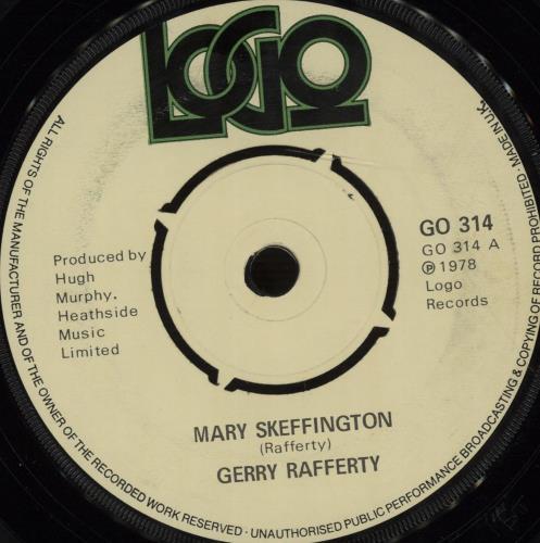 "Gerry Rafferty Mary Skeffington 7"" vinyl single (7 inch record) UK GER07MA674112"