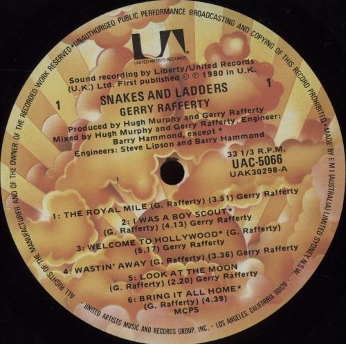 Gerry Rafferty Snakes And Ladders vinyl LP album (LP record) Australian GERLPSN671136