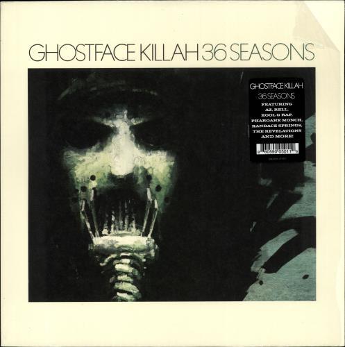 Ghostface Killah 36 Seasons + Shrinkwrap vinyl LP album (LP record) US GHFLPSE704510