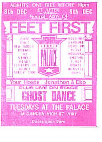Ghost Dance Promo Flyer - 1989 handbill UK GSTHBPR279786