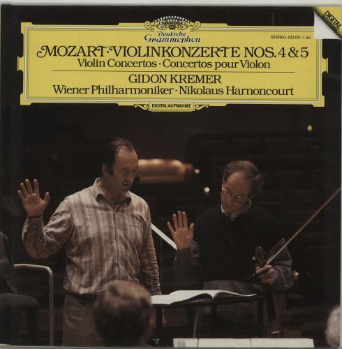 Gidon Kremer Mozart: Violinkonzerte Nos. 4 & 5 vinyl LP album (LP record) German GZDLPMO687862