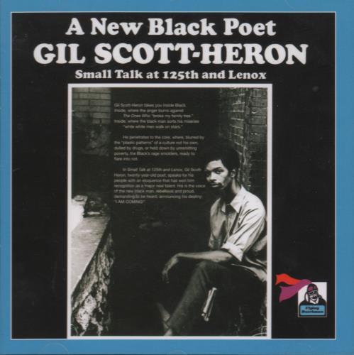 Gil Scott-Heron Small Talk At 125th And Lenox CD album (CDLP) UK GSHCDSM670764