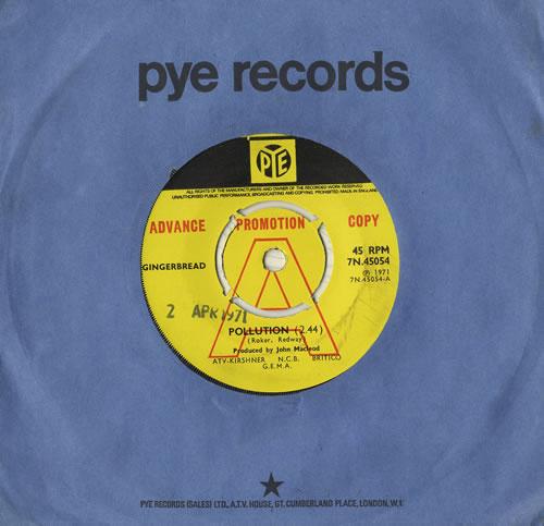 "Gingerbread Pollution 7"" vinyl single (7 inch record) UK GG307PO468415"