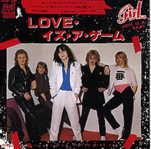 "Girl Love Is A Game 7"" vinyl single (7 inch record) Japanese GIR07LO258908"