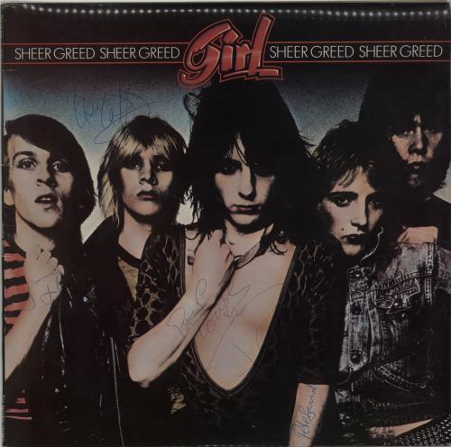 Girl Sheer Greed - Autographed vinyl LP album (LP record) UK GIRLPSH654531