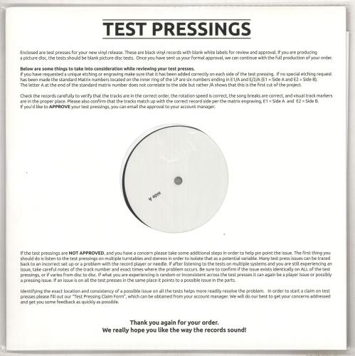 Girl Sheer Greed - Test Pressing vinyl LP album (LP record) UK GIRLPSH734466