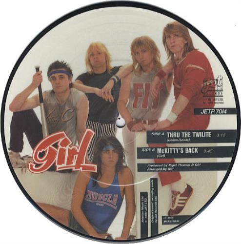 "Girl Thru The Twilite 7"" vinyl picture disc 7 inch picture disc single UK GIR7PTH08992"