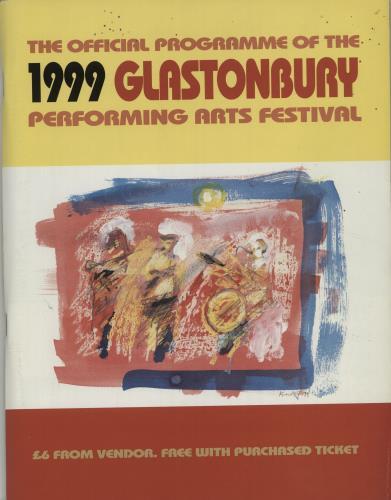Glastonbury 1999 Festival tour programme UK G-FTRFE683203