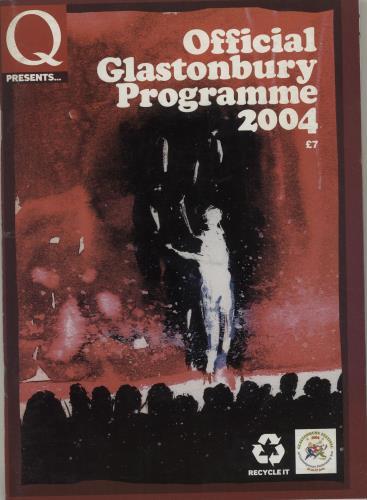 Glastonbury 2004 Festival tour programme UK G-FTRFE683209